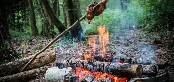 cuisiner dans la forêt
